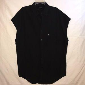 NEW PacSun Black Linen Oversized Tunic Dress Top